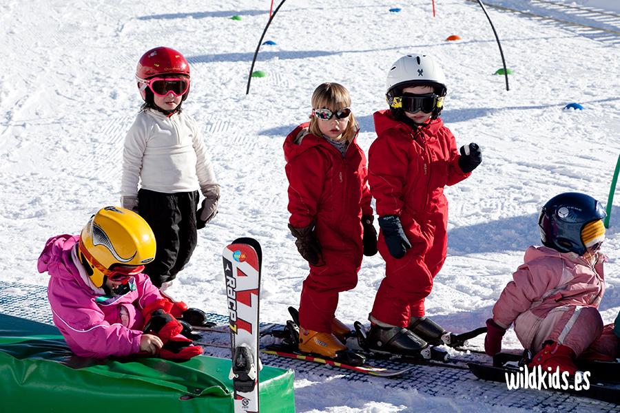 esqui de fondo con niños