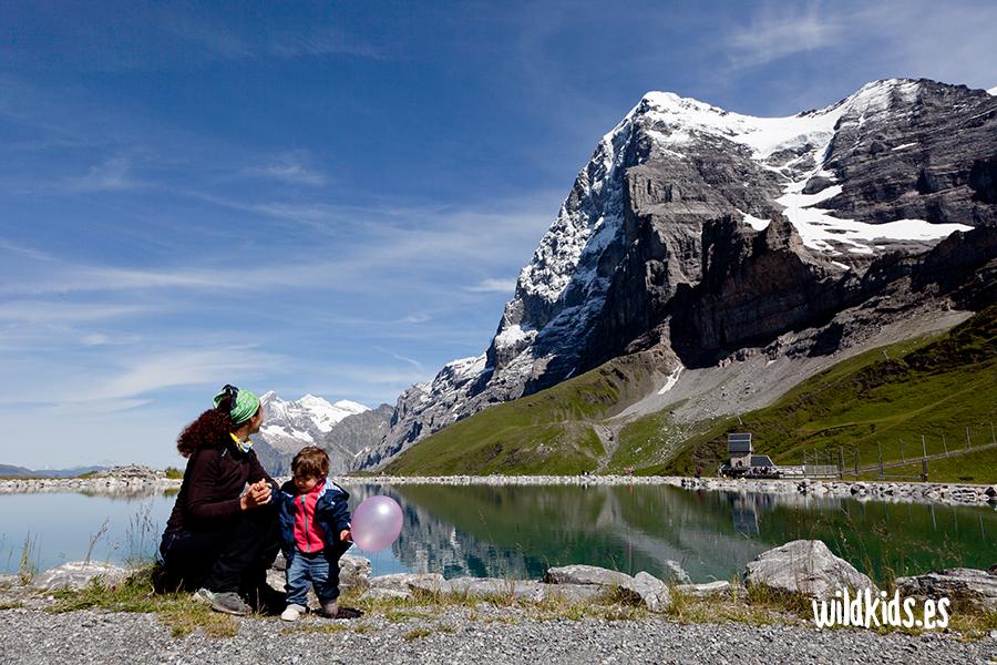 Fallbodensee alpes suizos con niños
