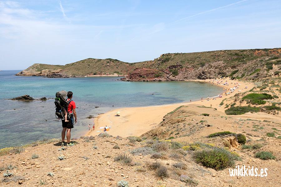 Cala cavalleria, Menorca con niños