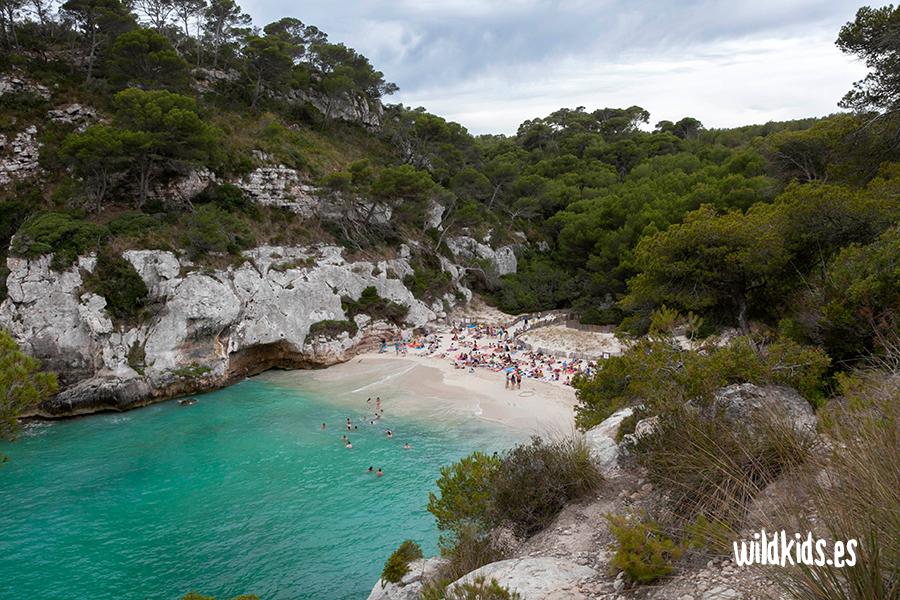 Cala Macaralleta, Menorca con niños