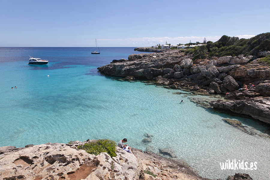 Caló Blanc, Menorca con niños