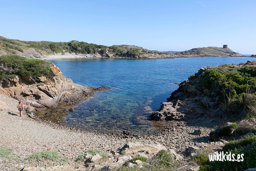 Cala des Tamarells, Menorca con niños