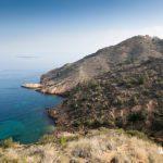 Vistas sobre la punta de Bombarda y el faro del Albir