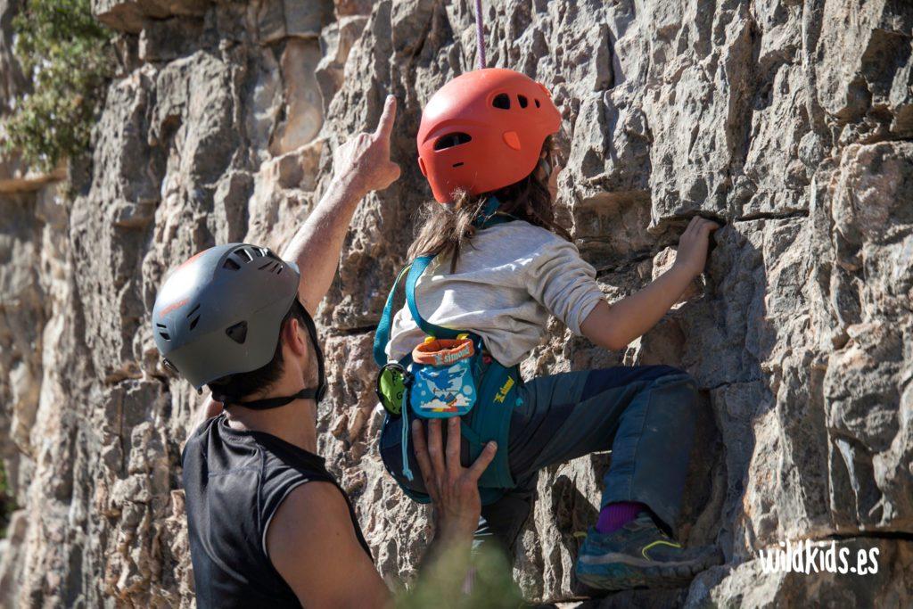 escalada con niños