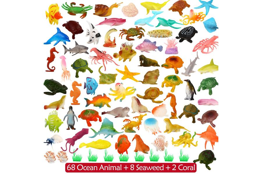 animales de juguete de agua