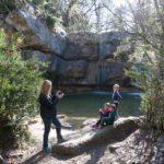 Excursión con niños als Gorgs de la cabana