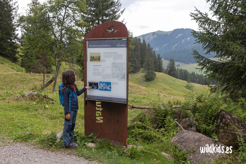 Uno de los paneles que nos encontramos en el Naturerlebnispark
