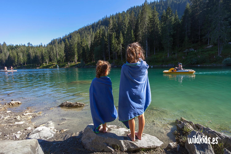 Tras un baño en el Lago Cauma