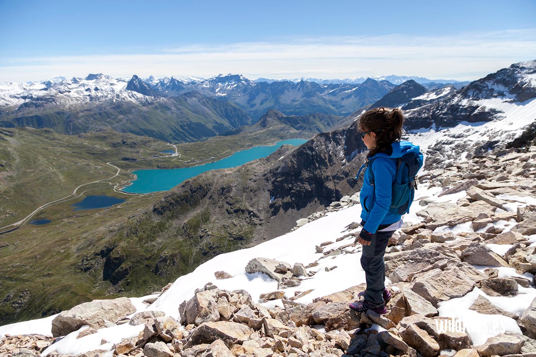 Vistas desde la cima del Sass Queder