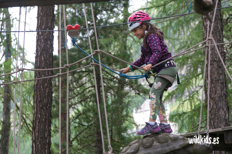 Parque de aventuras Go Vertical en Pontresina