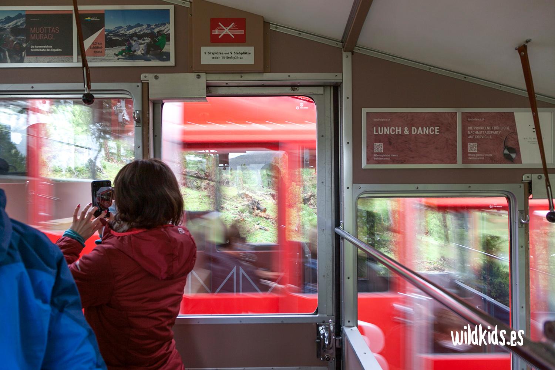 Tren cremallera de Muottas Muragl